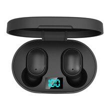 E6S-auriculares inalámbricos con Bluetooth 5,0, dispositivo de audio estéreo, TWS, manos libres, deportivos, para teléfono móvil