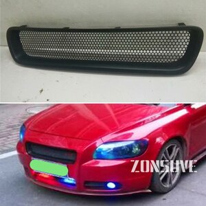 Use For Volvo C70 Carbon Fibre Refitt Front Center Racing Grille Cover Accessorie Body Kit Zonsuve