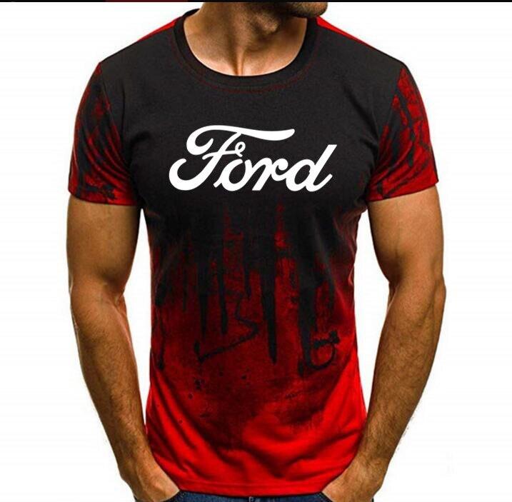 Ford automobiles carro veículo logotipo licenciado camiseta masculino