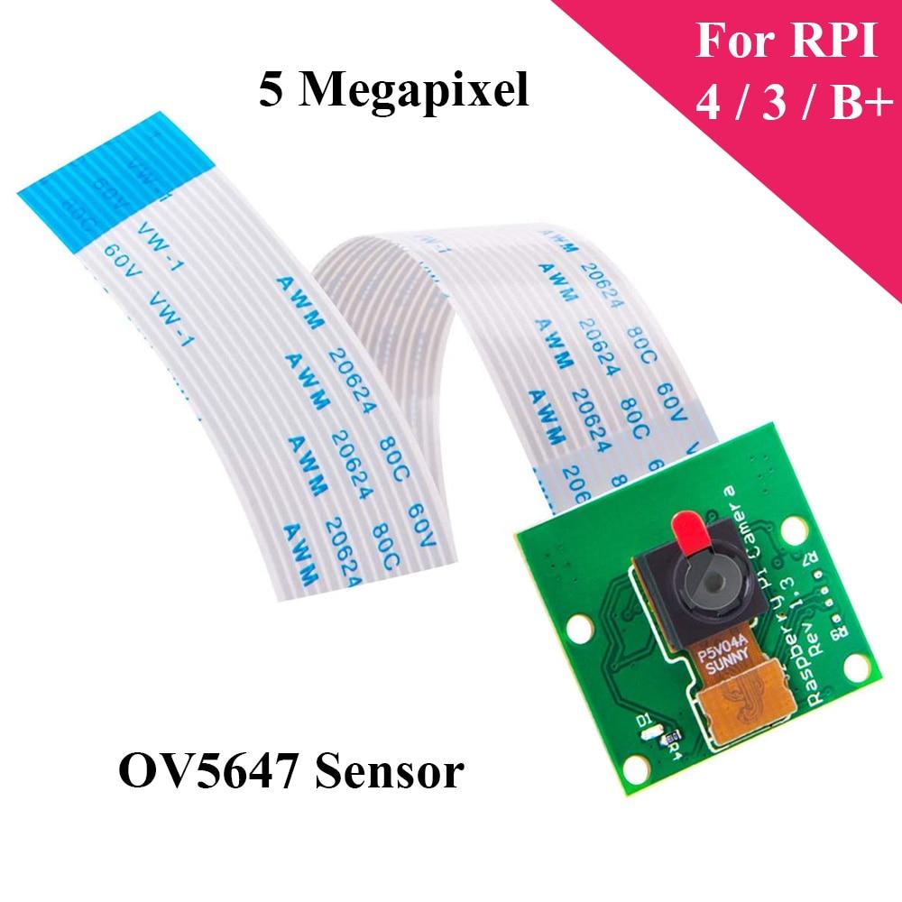 5MP Raspberry Pi 3 Mini cámara 1080P 720P OV5647 cámara de vídeo con Cables para Raspberry Pi Modelo B 4B 3B 3 B +