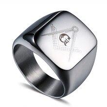 Anillo de Caballero de acero inoxidable assassins creed, anillos de acero para hombres, joyería de moda de color de acero, regalo para un hombre, anillos de símbolo punk