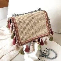 straw pack women messenger shoulder bags travel purses and handbags female new listing sac frange femme fashion bolsos trenzado