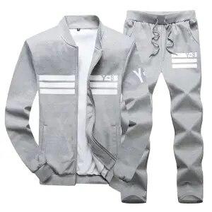 Мужские модные костюмы из чистого хлопка, комплекты мужской одежды для отдыха, коллекция уличной спортивной одежды