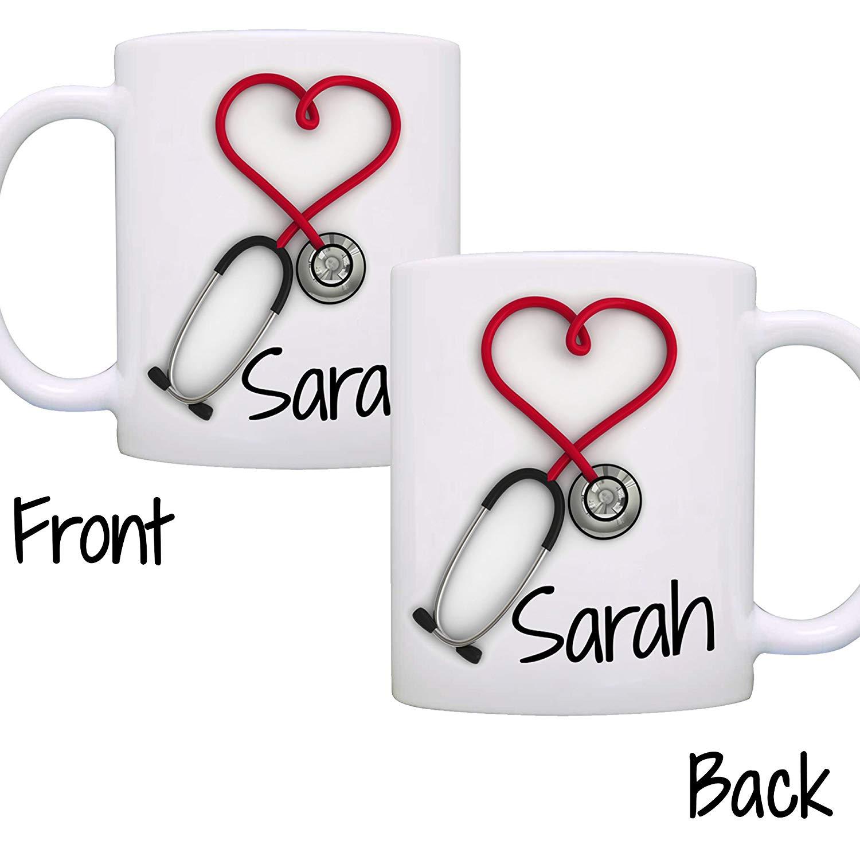 2020 spersonalizowany kubek do kawy stetoskop, zabawne i wyjątkowe kubki upominkowe dla pielęgniarek i lekarzy, drukowane po obu stronach!