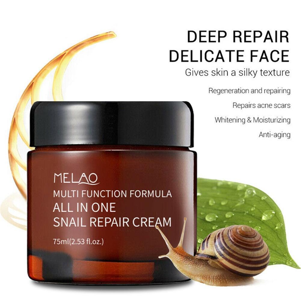 75ml Snail Cream Moisturizing Face Cream Snail Repair Anti Aging Essence Face Oil-control Cream Wrinkles Firming Skin Care