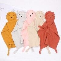 Детское успокаивающее полотенце-нагрудник, Мягкое Животное, кукла льва, Прорезыватель для зубов, удобное детское одеяло для сна и ухода за р...
