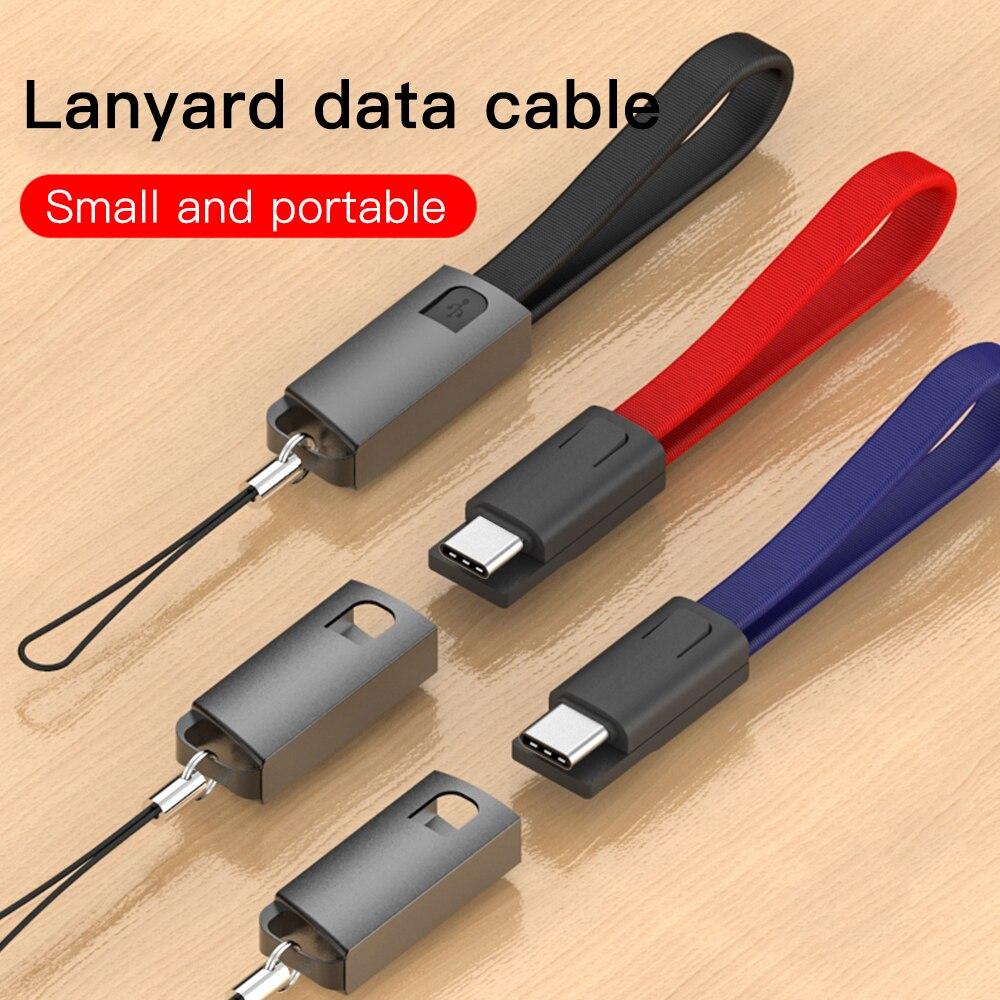 Corrente chave micro usb tipo c cabo de carregamento rápido cabo para samsung s10 a50 a70 note10 carregador usbc typec chaveiro cabo curto cabel