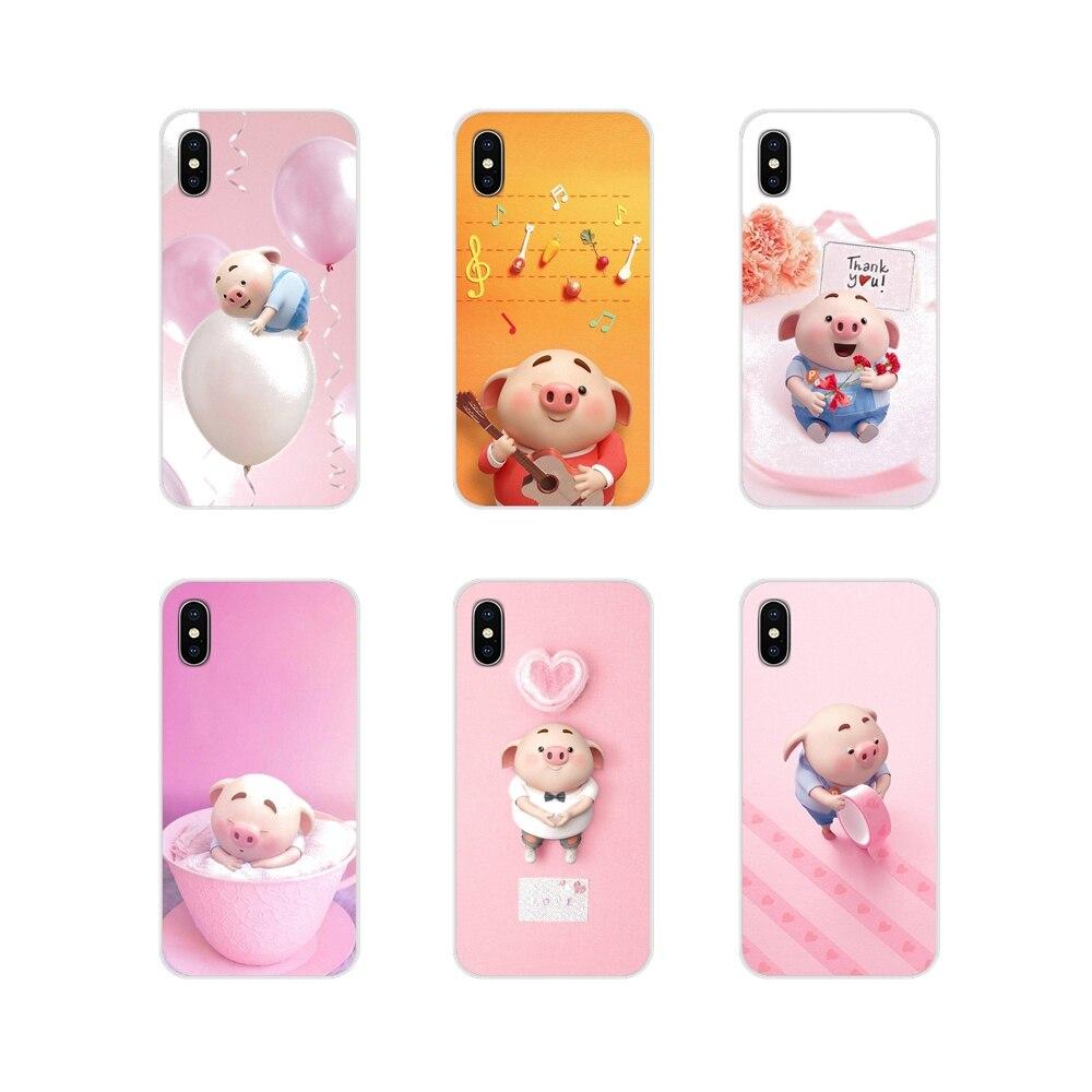 Porco bonito Acessórios Phone Cases Capas Para Xiaomi Mi4 peido Mi5 Mi5S Mi6 Mi A1 A2 A3 5X 6X 8 CC 9 T Lite SE Pro