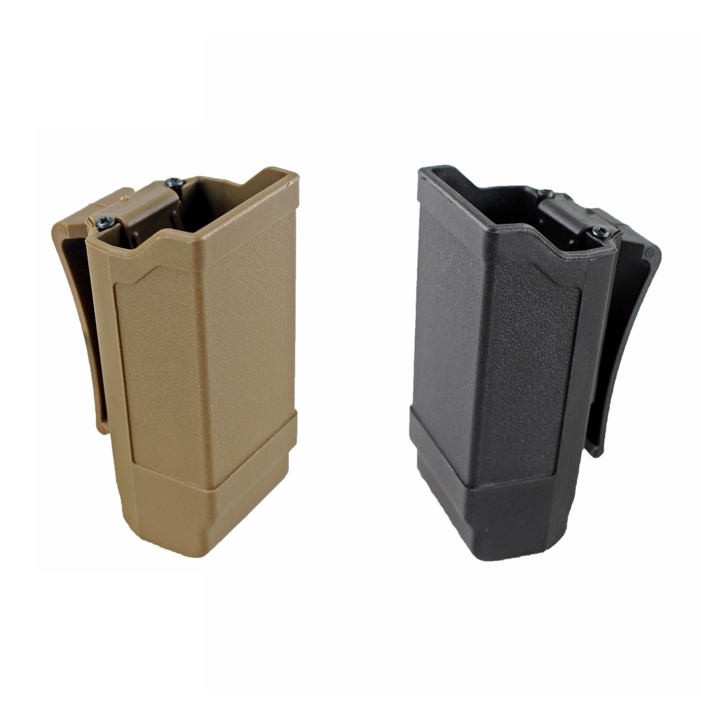 Caza CQC doble pila Revista Funda de Mag soporte para una Glock de 9mm a calibre 45, revista