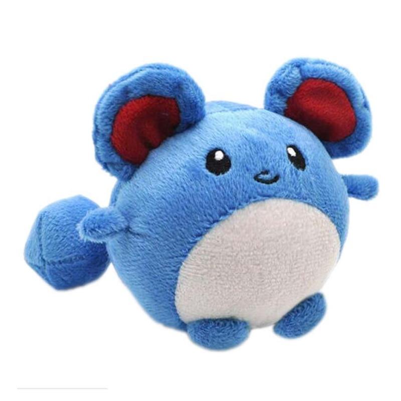 10 pçs/lote atacado 1 pçs 12cm marill eevee dos desenhos animados gx ex figura azul boneca de pelúcia brinquedo de pelúcia