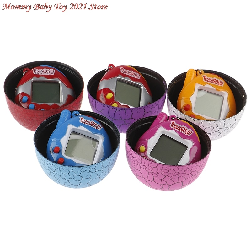 Kids Electronic Virtual Pet Machine E-pet Dinosaur Egg Toys Cracked Eggs Cultivate Game Machine for