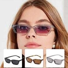 2021 Women Rectangle Vintage Sunglasses Brand Designer Retro Sun Glasses Female Lady Eyeglass Cat Ey