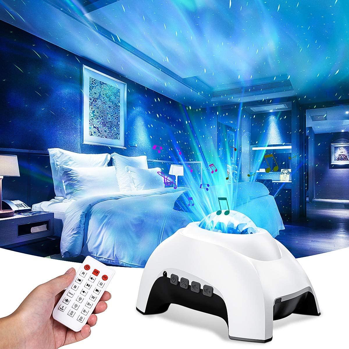 Проектор Северное освещение Аврора галактика Звездный проектор Bluetooth музыкальная Колонка белый шум ночник Аврора лампа Декор для детей