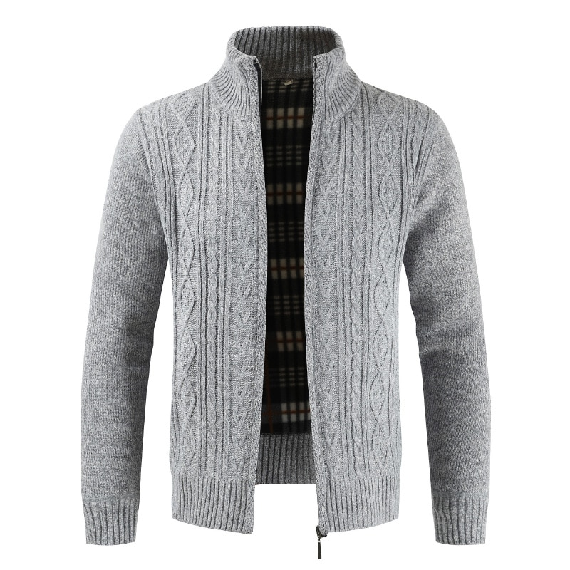New Men's Autumn Winter Cardigan Men Fashion Outwear Thick Warm Knitted Sweater Mens Jackets Coats Male Clothing Casual Knitwear
