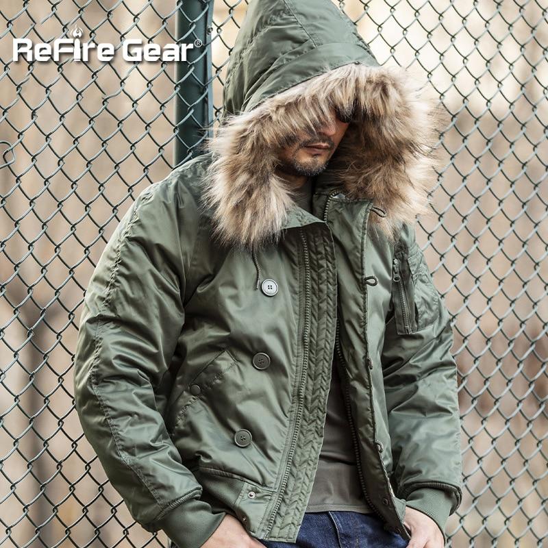 ReFire Gear зимняя Военная тактическая куртка, теплый Тренч, военная куртка с меховым капюшоном, теплая куртка с капюшоном, тактическая куртка-бо...