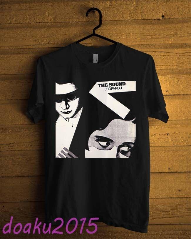 Camiseta negra con estampado de The Sound Jeopardy 1980, para hombre, talla S, 2Xl, personalizada