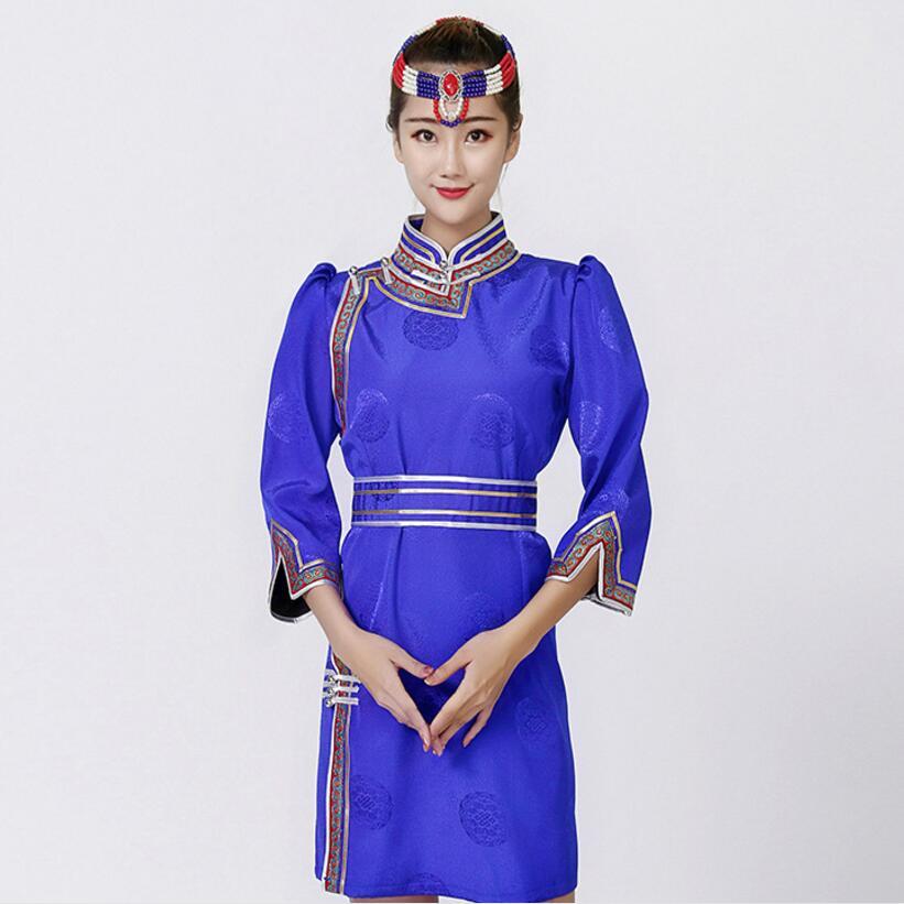 Mujer traje tradicional bata de Mongolia Tang traje estilo stand collar chaqueta Asia elegante vestido oriental ropa