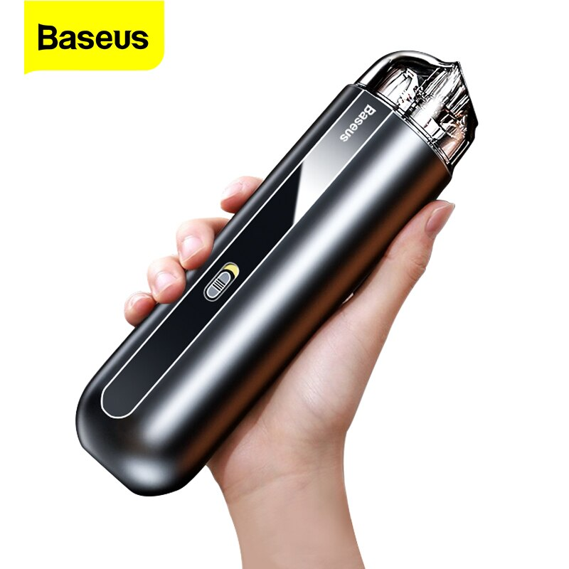 Baseus-مكنسة كهربائية محمولة للسيارة, مكنسة كهربائية لاسلكية صغيرة محمولة باليد 5000Pa قابلة لإعادة الشحن لمكنسة السيارة