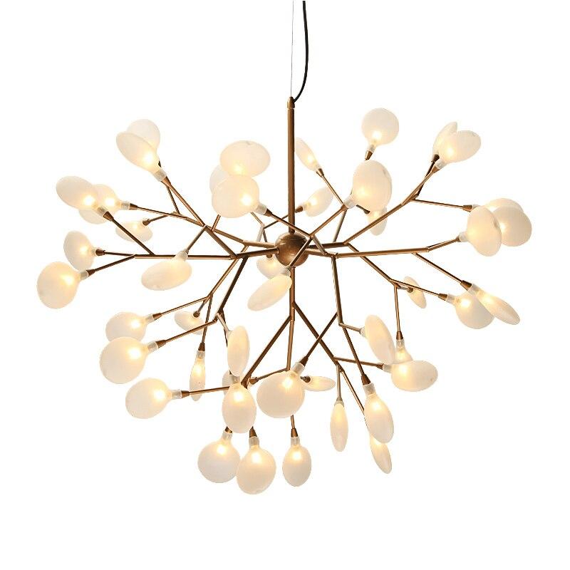 Moderna lámpara de araña LED luciérnaga Con estilo de rama de árbol, Lámpara decorativa de techo con luciérnagas, lámpara colgante