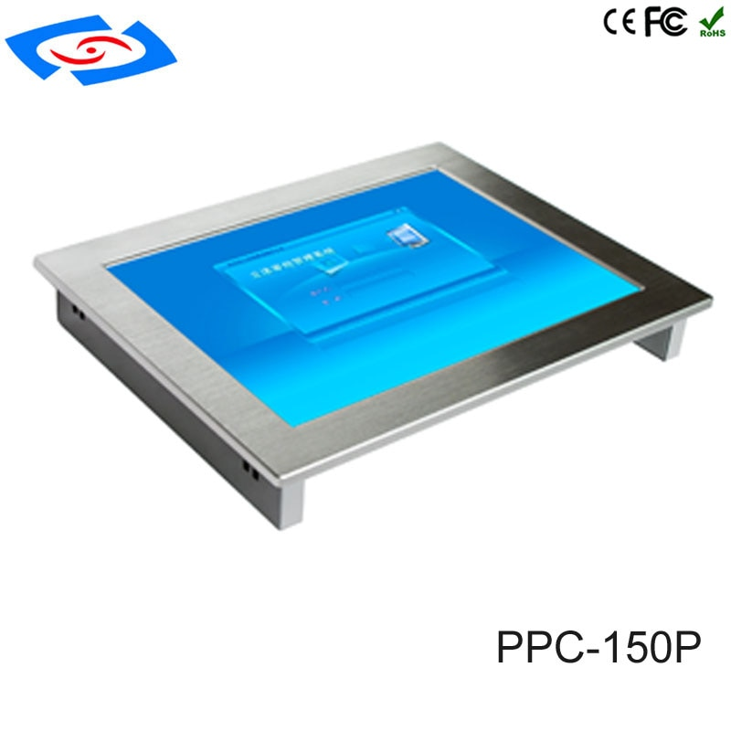 Ordenador Industrial portátil robusto de 15 pulgadas intel j1900 cpu panel táctil pc 4G ram 64G rom para entornos de operaciones adversas