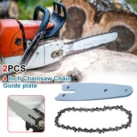 sale 2pcs 4 inch mini steel chainsaw chain lightweight guide chain suitable for 4 inch cordless electric chain saw accessories