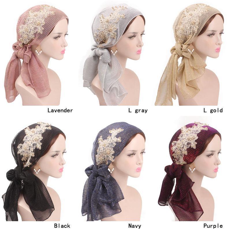 New Fashion Muslim Woman Inner Hijabs Hats Turban Head Cap Hat Beanie Ladies Hair Accessories Muslim Scarf Cap