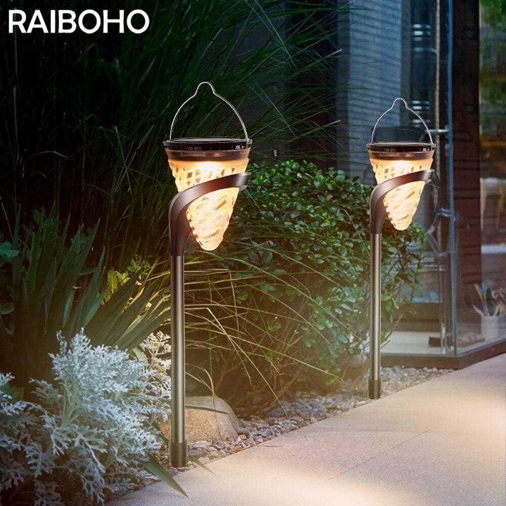 2020 nuevas lámparas solares de la pared del jardín lámparas al aire libre impermeables luces solares de la estaca para la decoración del patio del jardín de la Villa