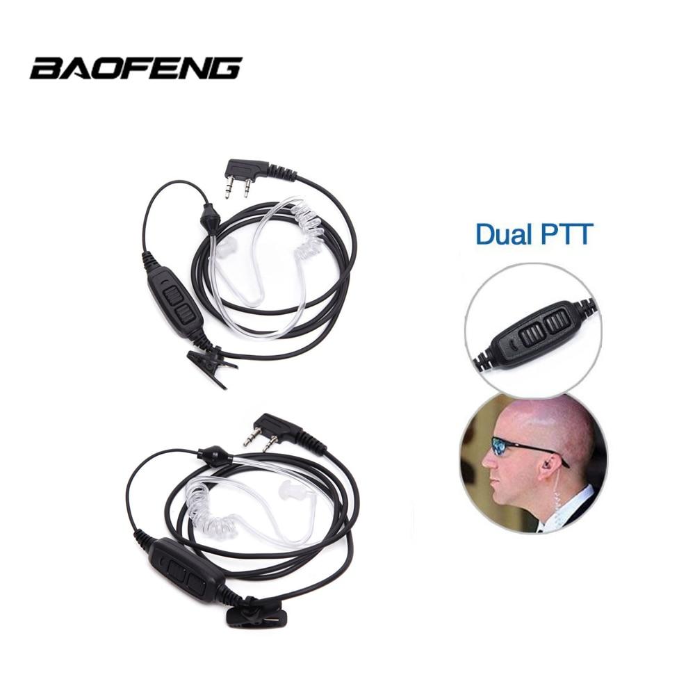 2 uds Original de Baofeng PTT tubo de aire auricular Baofeng UV-82 UV-8D Dual PTT Airtube auriculares