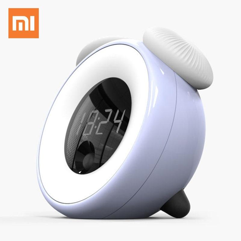 Xiaomi-ساعة منبه ذكية مع مؤقت ، مصباح ليلي ، ضوء ليلي ، مستشعر LED ، فطر ، غرفة نوم للأطفال