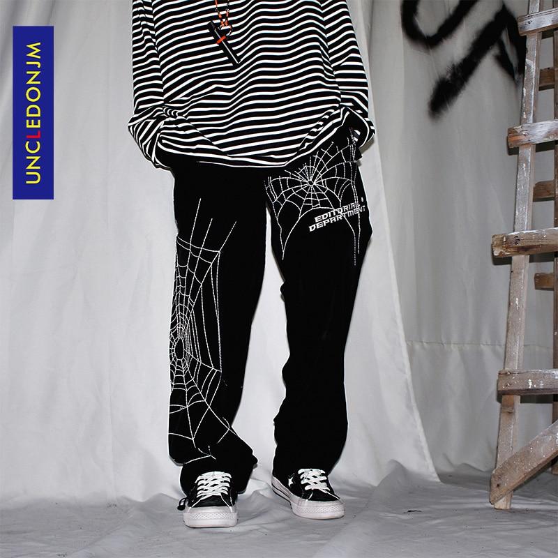UNCLEDONJM-بنطلون فضفاض مطرز للرجال ، ملابس الشارع ، هيب هوب ، كاجوال ، عصري ، مجموعة صيف 2020 ، ED933