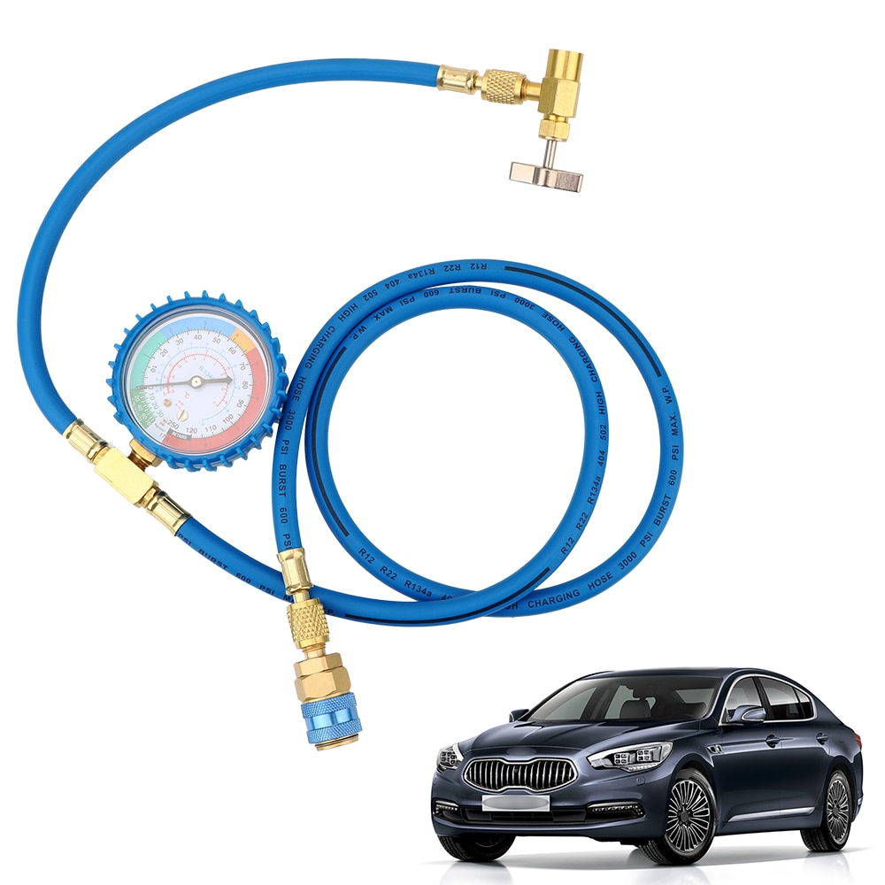 Car Air Conditioning Refrigerant Recharge Hose Reparing Tools R134A Car Accessories Pressure Gauge Measuring Kit