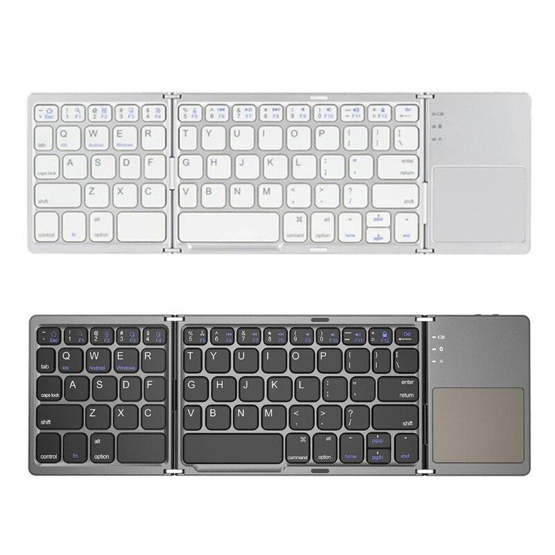 للطي بلوتوث لوحة المفاتيح القابلة لإعادة الشحن لوحة المفاتيح مع لوحة اللمس اللوحي الهاتف