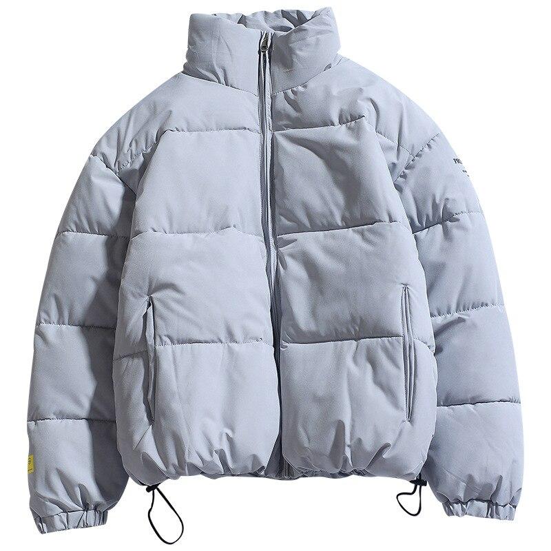 Зимняя новая однотонная мужская парка, Высококачественная Теплая мужская куртка с воротником, мужская повседневная Модная парка