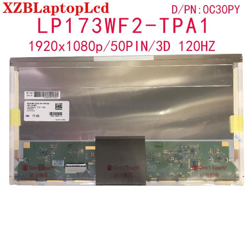 LP173WF2-TPB1 LP173WF2 TPB1 LP173WF2-TPB2 LP173WF2 TPB2 LP173WF2 TPA1 17.3 ''1920*1080 FHD 3D LCD شاشة EDP 50 دبابيس DP/N 0C30PY