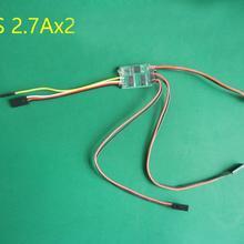 1PC 2S 1.8A 2.7A ESC Bidirectional Brushed ESC 6V-10V Mini ESC Forward Backward Speed Controller for