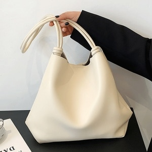 Women Soft Leather Handbags High Quality Large Capacity Tote Female Sac Casual Bags Set Vintage Shoulder Bags Simple Hand Bag