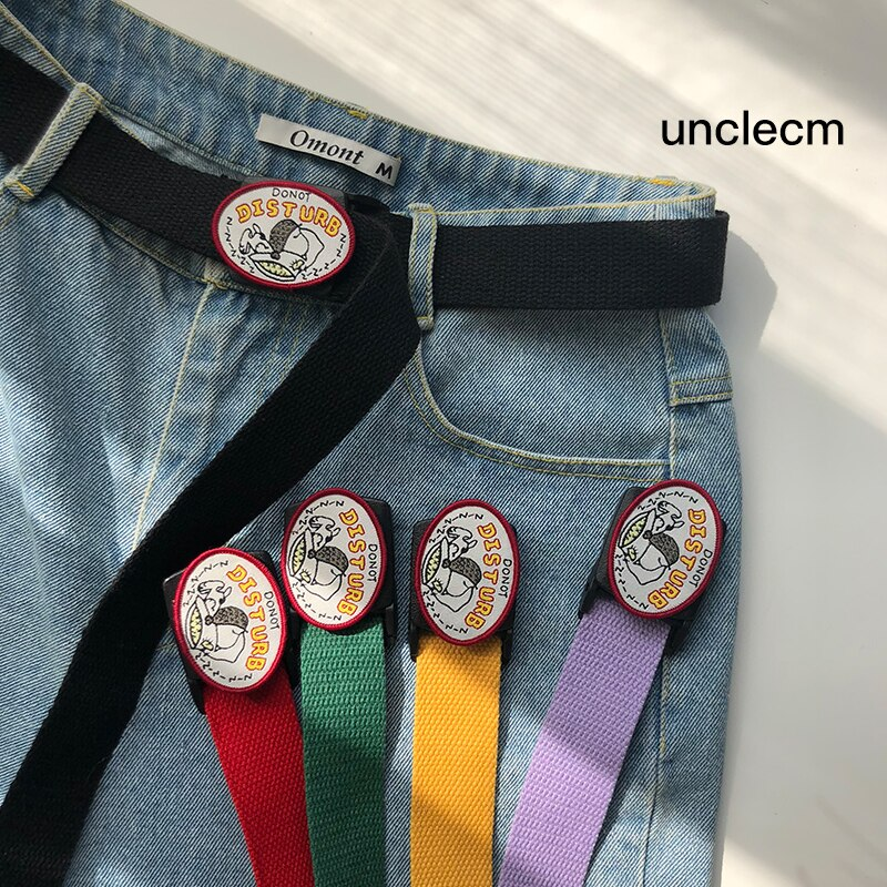 Canvas Belt Men and Women Simple Versatile Korean Style Ins Youth Fashion Trendy Belt Casual Smooth