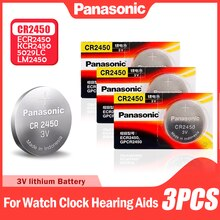 3PCS Panasonic Taste Batterien CR2450 CR 2450 BR2450 KCR2450 5029LC LM2450 Für Uhr Elektronische Spielzeug Skala 3V Lithium-batterie