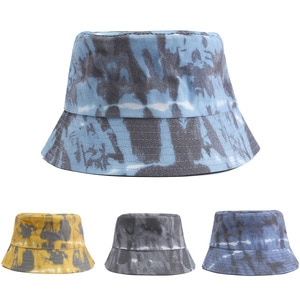 New Spring And Summer Men And Women Outdoor Tie-Dye Fisherman Hat Fashion Couple Travel Street Shade Bucket Hat Wholesale