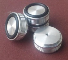 BRZHIFI aluminium füße (mit gummi ring) für power verstärker/vorverstärker/lautsprecher D 44mm H 19mm