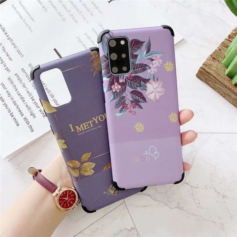 For Huawei P20 P30 P40 Pro Lite Nova 4 5 6 7 6SE 7SE Case Flower Armor Heavy Duty Back Covers Skin C