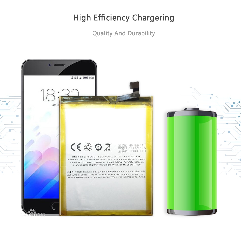 Free Tools For Meizu 4000mAh BT61 Battery For Meizu M3 Note M3Note L681 L681H M681 M681H BT 61 Phone Battery+Tracking Number
