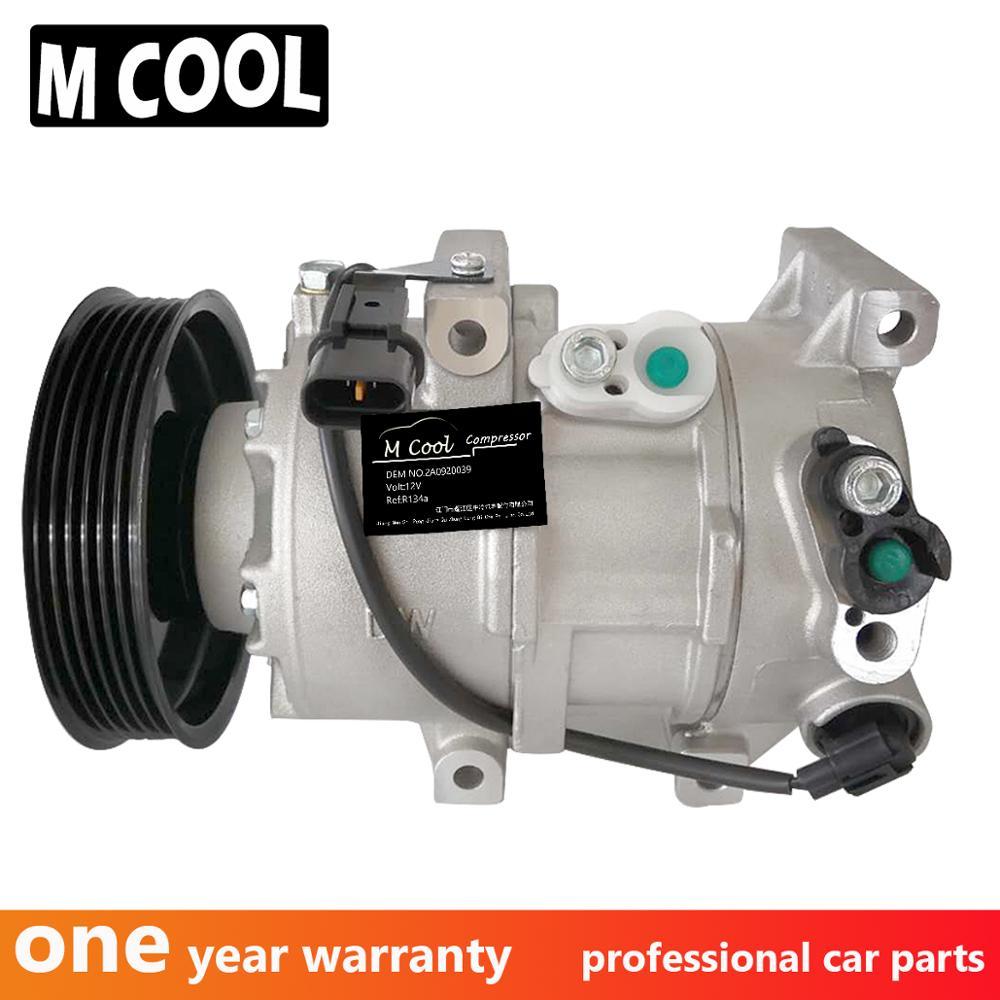 Para compresor de aire acondicionado Hyundai Accent I40 Kia Rio 2013-2017 compresor de aire acondicionado 2A0920039 977013Z100 8972876412 977011R100