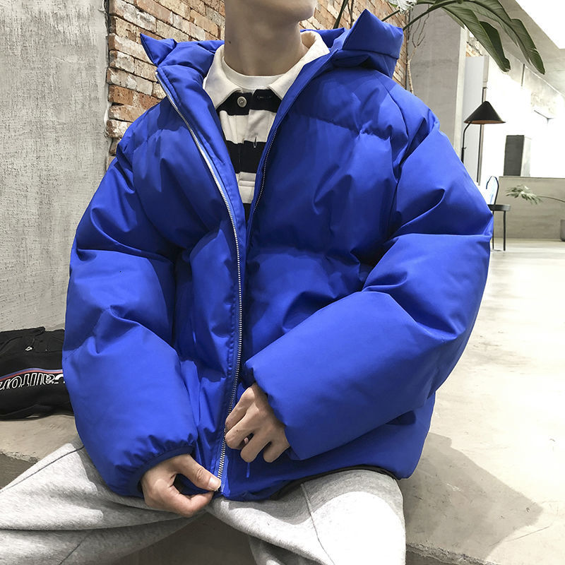 2021 Men's Winter Warm Parkas Korean Man Thicken Casual Jackets Coats Printed Men Oversized Outwear Jacket Parkas