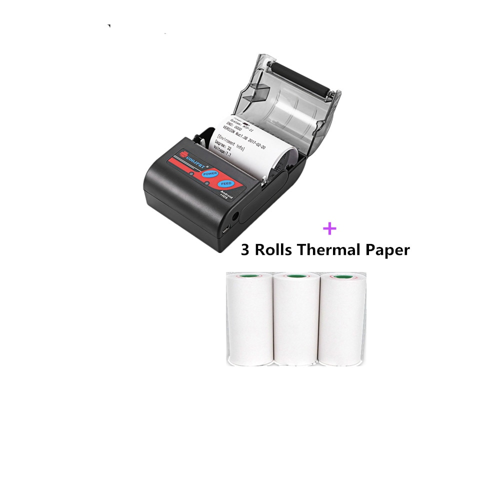 GOOJPRT impresora de recibos térmicos Bluetooth portátil Mini 58mm impresora portátil USB Tickets impresoras para el sistema Android IOS