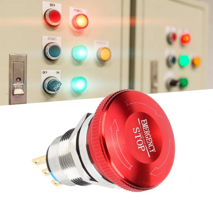 BEM-19-11ZSDT 20 Uds botón de parada de emergencia 19mm 1NC 1NO C Botón de acero inoxidable 440V 10A IP65 IK08 interruptor giratorio interruptor de palanca