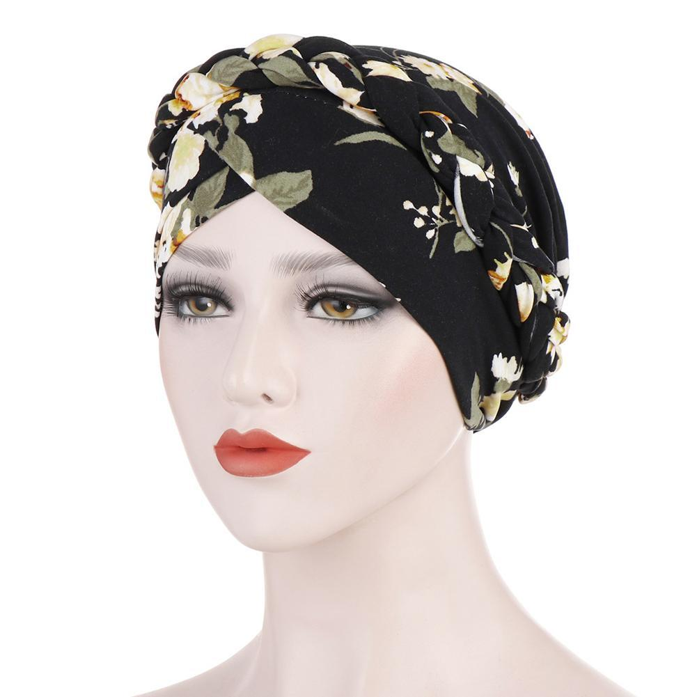 Muslims Women Turban Hat Braid Silky Scarf Cotton Cancer Chemo Beanies Bonnet Caps Bandana Headscarf Headwrap Hair Loss Cover new women stretch solid ruffle turban hat scarf knotted chemo beanie caps headwrap for cancer chemotherapy hair loss accessories