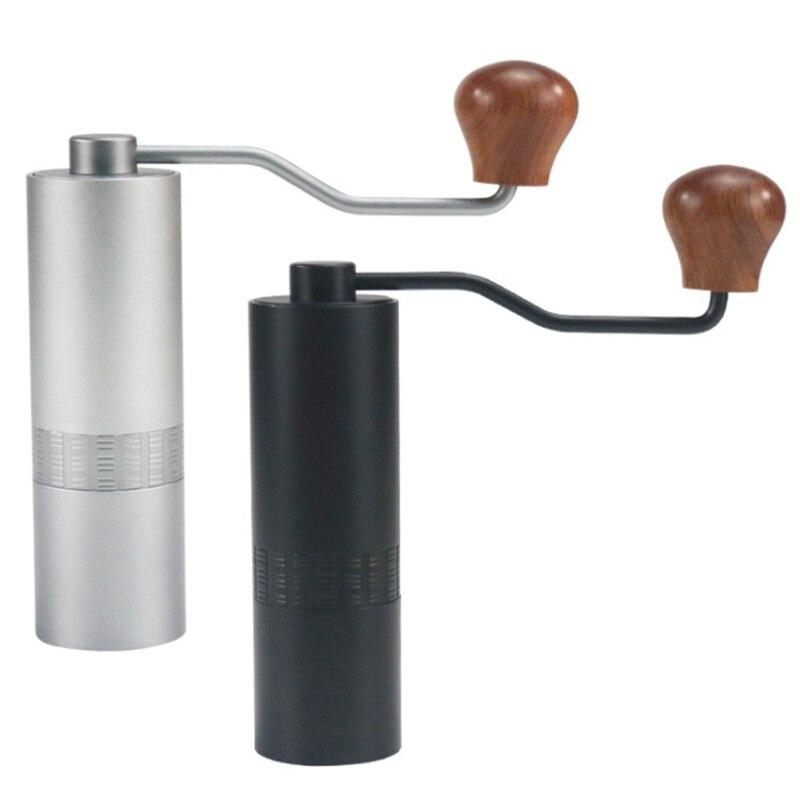اليد طاحونة القهوة طاحونة صغيرة الفولاذ المقاوم للصدأ اليد اليدوية القهوة الفول لدغ المطاحن مطحنة أداة المطبخ