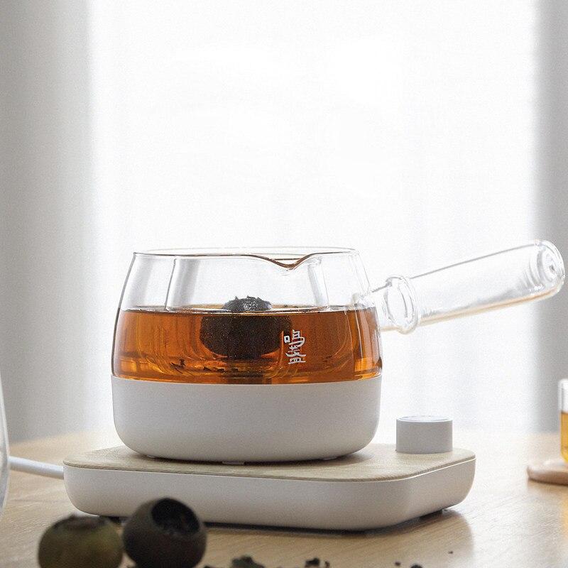220 فولت غلاية كهربائية إبريق الشاي التلقائي 2 طرق ماكينة إعداد الشاي الحفاظ على الصحة وعاء صغير الزجاج غلاية الماء المغلي 0.5L للمكتب