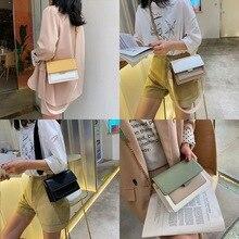 Contraste couleur cuir sacs à bandoulière pour femmes 2020 mode Simple épaule sac de messager dames sac à bandoulière voyage sac à main